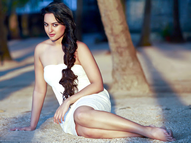 The hot Sonakshi Sinha is oozing with sensuality and in this frame.