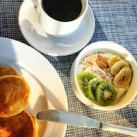 Petit déjeuner à l'hôtel club Louis Corcyra beach
