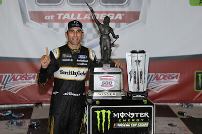 Fast Fords At Talladega As Almirola Wins - #NASCAR