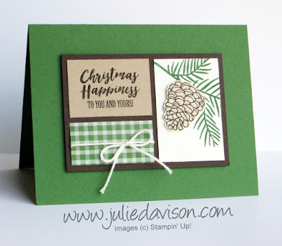Stampin' Up! Christmas Happiness Card ~ 2017 Holiday Catalog ~ www.juliedavison.com