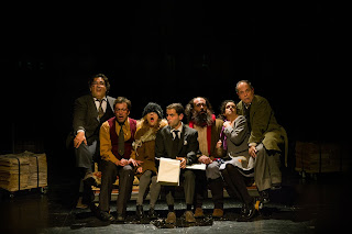 """""""Μαύρο χιόνι-Το ημερολόγιο ενός μακαρίτη"""" (βασισμένο στο """"Θεατρικό μυθιστόρημα"""" του Μιχαήλ Μπουλγκάκωφ), σε σκηνοθεσία Κώστα Φιλίππογλου."""