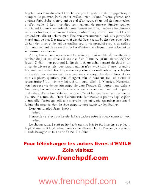 La Débâche en pdf gratuit d'Émile Zola