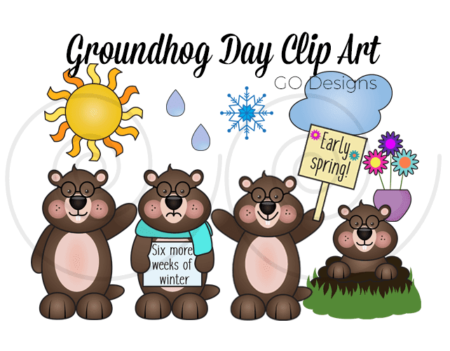 Groundhog Day clip art and fun activities for kids