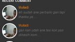 Recent comment với avata cho blogspot
