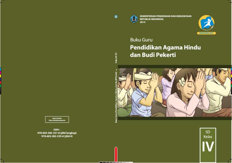 Download Gratis Buku Guru Pendidikan Agama Hindu Dan Budi Pekerti Kelas 4 SD Kurikulum 2013 Format PDF