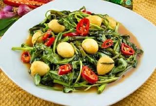 Resep Kangkung Telur Puyuh