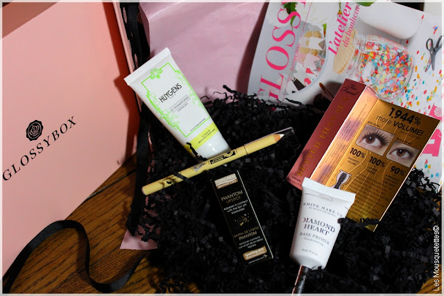 Glossybox janvier 2016 - L'Atelier du Bonheur - Too Faced, Huygens, Topicrem, Marsk, Émite Make Up - Les Mousquetettes©