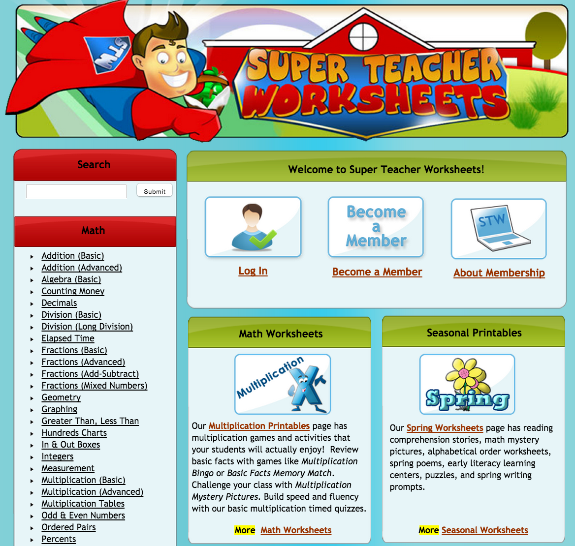 A Good Resource of Educational Worksheets for Teachers | Educational ...