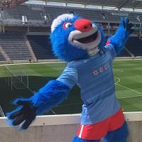 Supernova, the Chicago Red Stars mascot