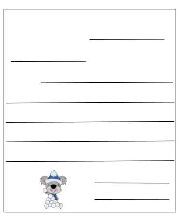 Letter writing templates for first grade santa letter for Letter writing template for first grade