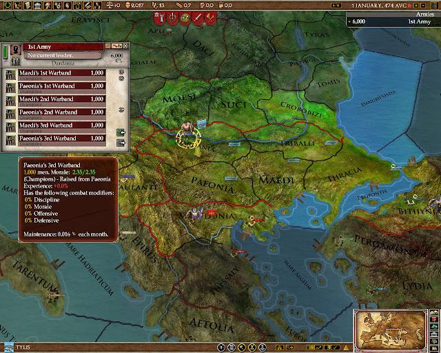 Army Screenshot | Europa Universalis: Rome