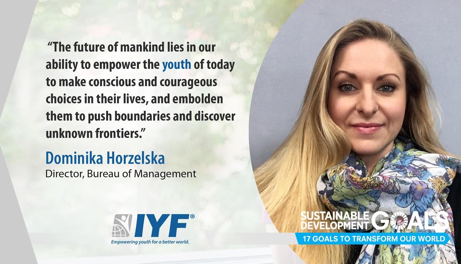 Dominika Horzelska - IYF Director, Bureau of Management