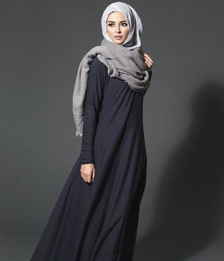 gaya busana hijab simple pashmina terbaru 2017/2018