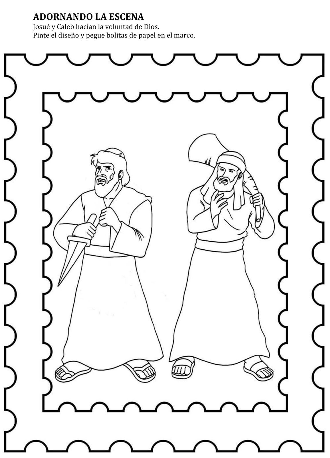 Historia De Josue Y Caleb Enviar Por Correo Electr Sketch
