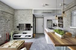 🥇 Interior de una casa moderna en gris