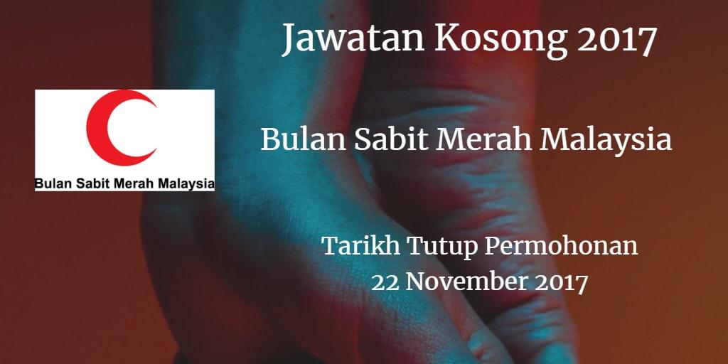 Jawatan Kosong Bulan Sabit Merah Malaysia 22 November 2017