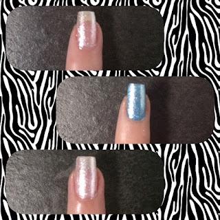 Nail art colorata con glitter