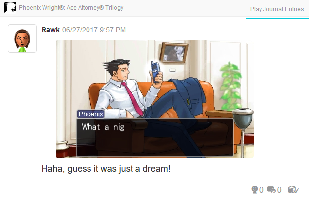 Phoenix Wright Ace Attorney Justice For All racist against black people nig