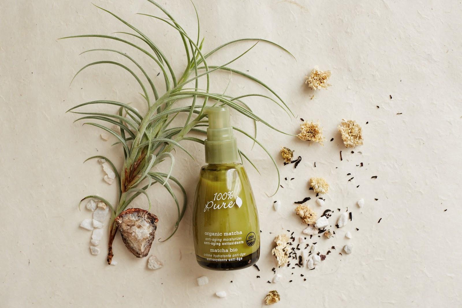 100 Percent Pure Organic Matcha Moisturizer Review nontoxic natural skin care brand hellolindasau