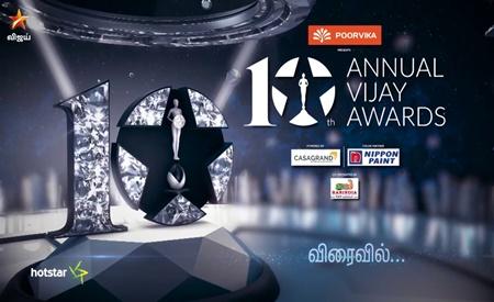 10th Annual Vijay Awards 17-06-2018 Vijay TV Show