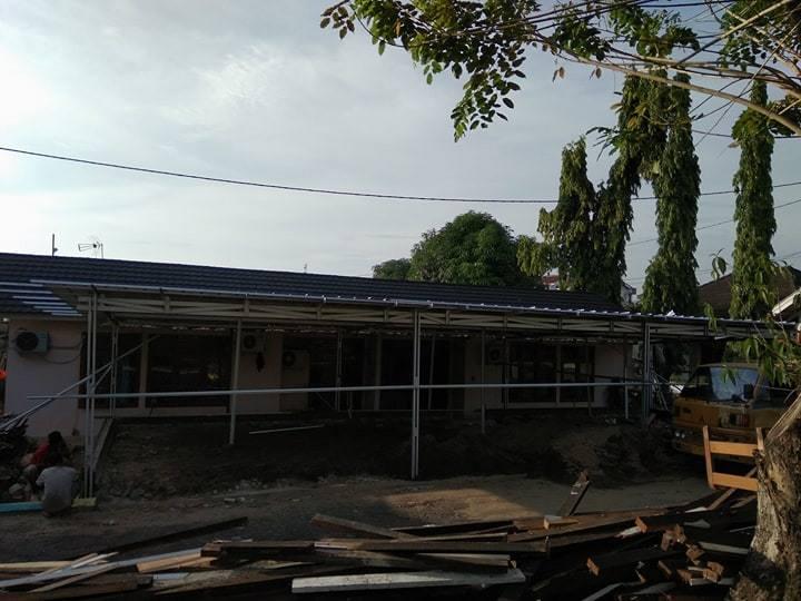 menghitung kebutuhan baja ringan untuk atap bangun di perumahan pln palembang ...