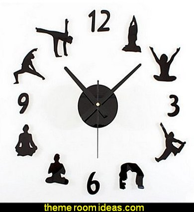 DIY Yoga Wall Clock