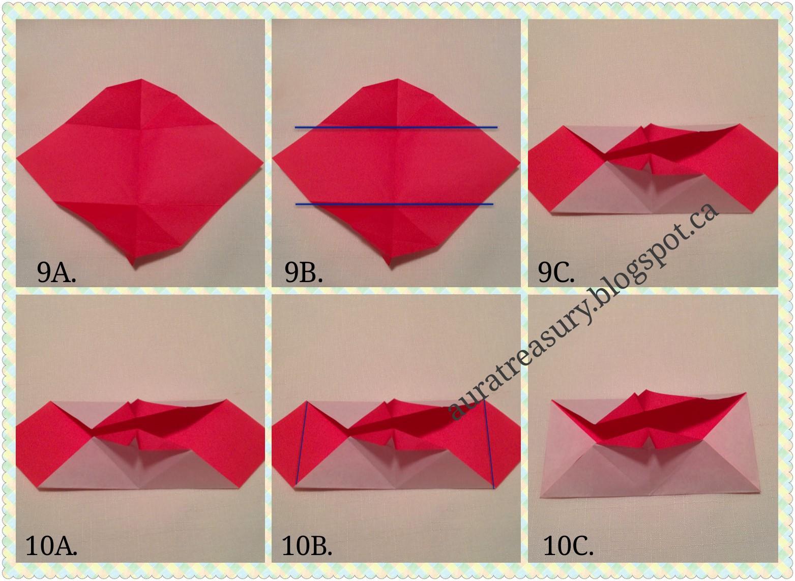 aura treasury diy valentines origami kisssssssssssss
