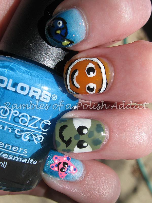 Disney Nail Art Challenge Day 24 Finding Nemo Rambles Of A Polish Addict