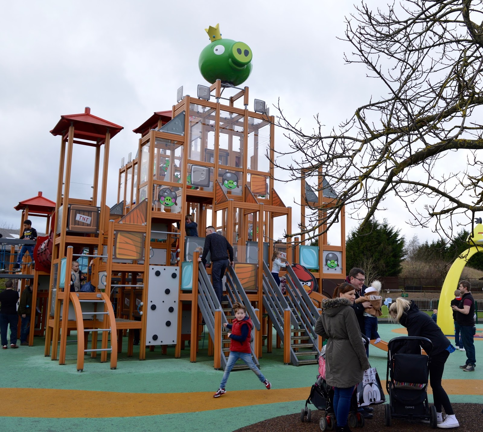 Visiting Angry Birds Activity Park at Lightwater Valley, North Yorkshire - angry bird tower
