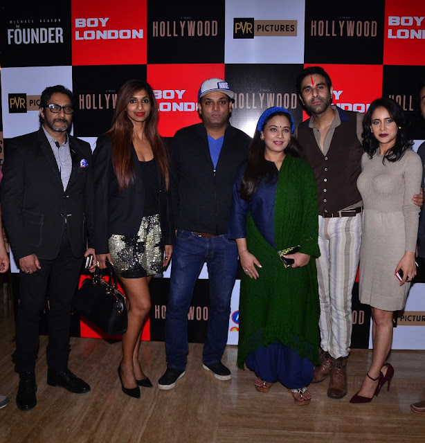 1)Kaushik Shrimanker, Sandhya Shetty, Aarnav Shrishat, Sharbani Mukherjee, Sandip Soparkar & Shweta Khanduri at Premiere of International Hollywood Movie The Founder