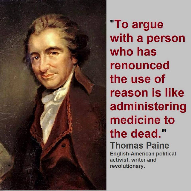 Never Argue With Stupid People Quote: Jobsanger: Thomas Paine