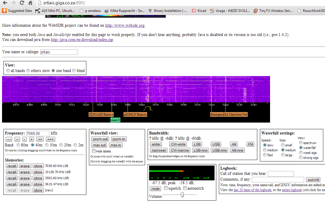 ZR6AIC: Now added 70cm Satellite webSDR with Egg Beater ...
