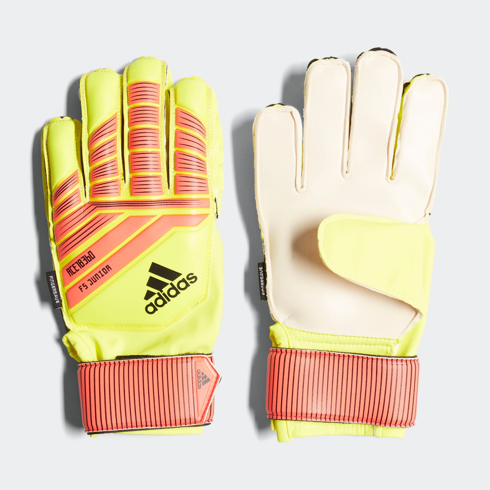527dcaf795f6 A striking look, the Adidas Predator Pro 18 2018 World Cup gloves are  hi-vis yellow (electricity) with flashy red applications and black  brandings and ...