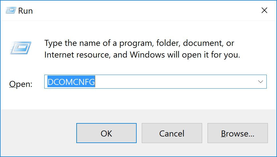 The machine-default permission settings do not grant Local