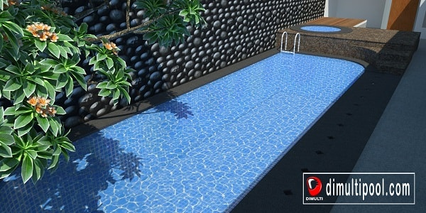 Desain kolam renang minimalis model spa