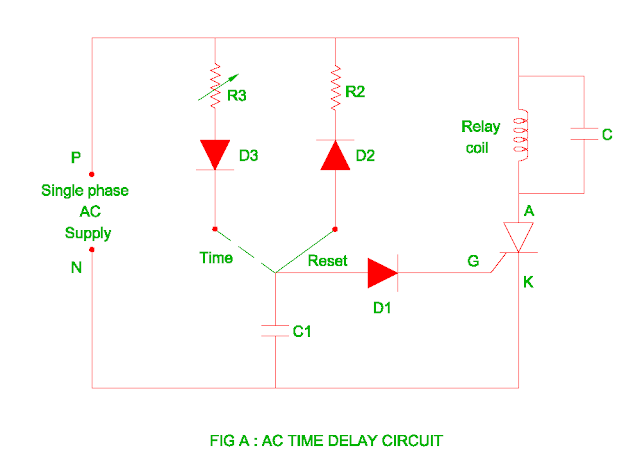 ac time delay circuit