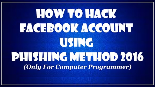 Hack facebook account using New phishing method 2016
