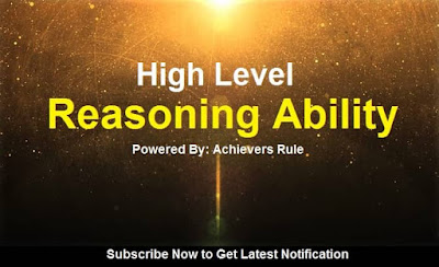 High level Reasoning Ability Practice Set