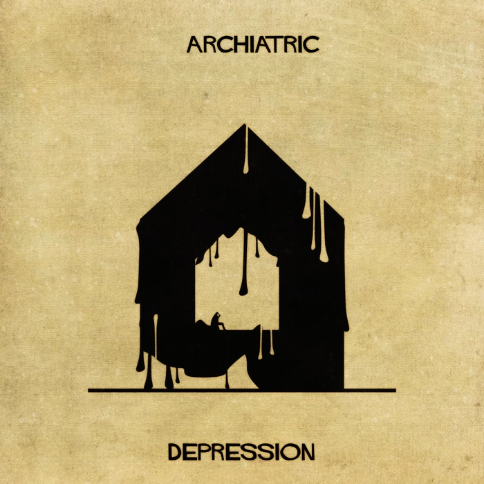 04-Depression-Federico-Babina-ARCHIATRIC-Mental-Health-Illustrations-Paired-with-Architecture-www-designstack-co