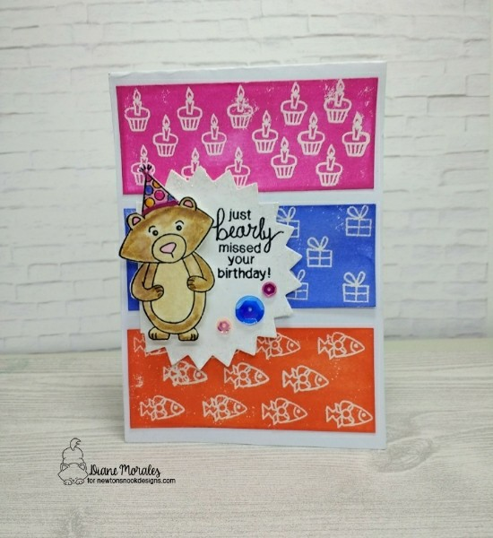 Just Bearly Missed Your Birthday  by Diane features Winston's Birthday by Newton's Nook Designs; #newtonsnook