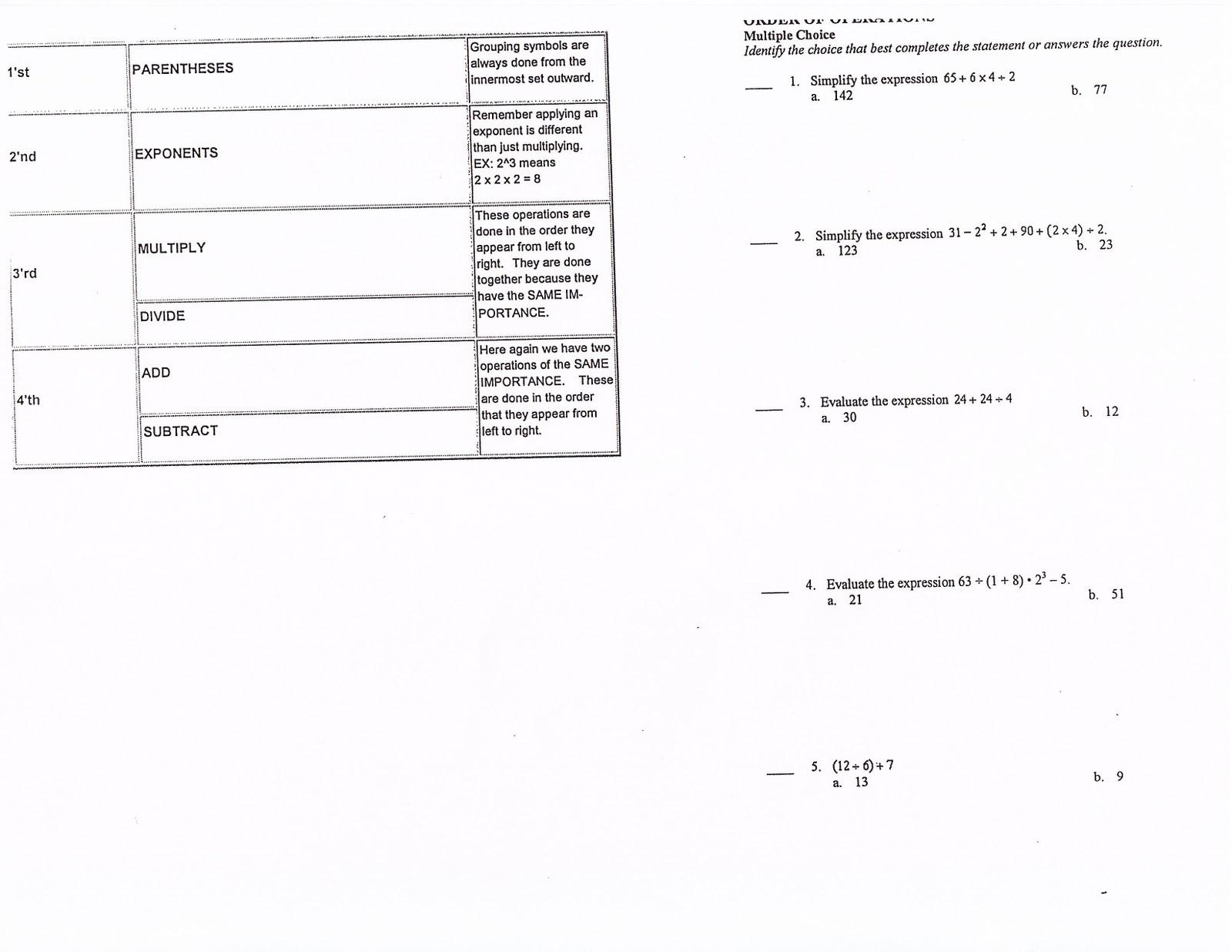 Mrs White 39 S 6th Grade Math Blog Even More Order Of