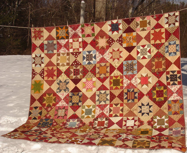 Civil War Quilts: More Finished Stars in a Time Warp