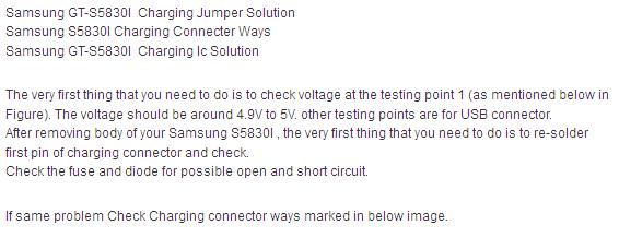 Samsung Gt-S5830I Charging Ways Repair Solution