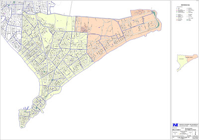 Mapa das ruas de Punta Del Este