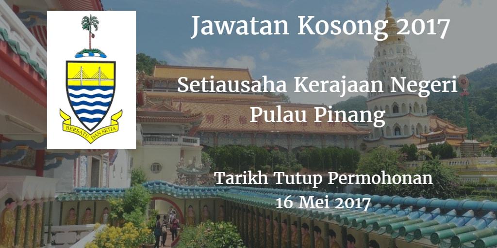 Jawatan Kosong SUK Pulau Pinang 16 Mei 2017