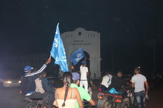 Sanjuaneros con un singular celebración triunfo del Licey