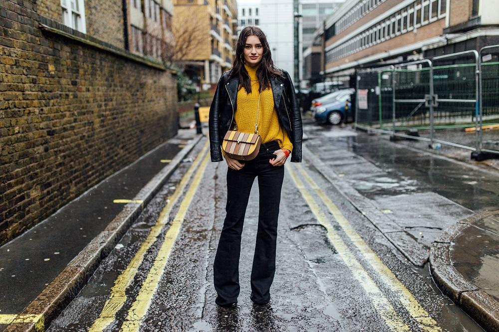 lfw street style mustard worn by peexo