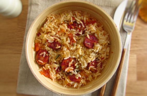 Simple and Tasty Lunch Suggestion: Sausage Rice