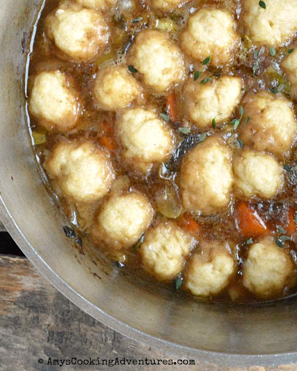 Amy S Cooking Adventures Beef Stew With Dumplings Soupswappers