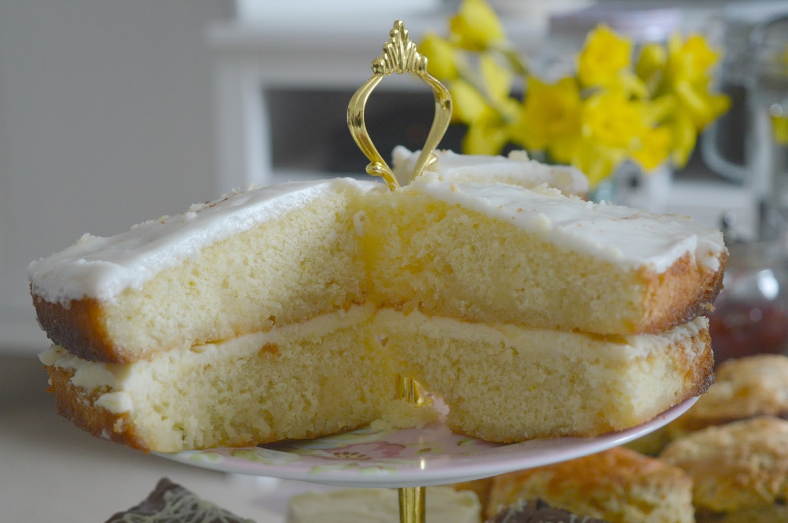 Mrs Dellow's Delights North East Afternoon Tea Delivery Service - Lemon Drizzle Cake